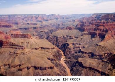 Helicopter Tour of the Grand Canyon, Dragon Corridor, Arizona, USA