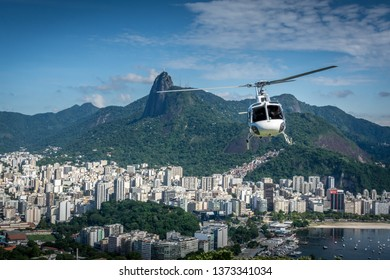Helicopter tours over Rio de Janeiro, Brasil Brazil from above