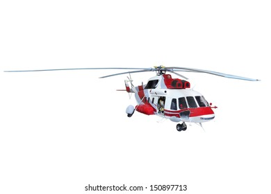 helicopter under the white background