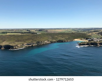 Helicopter view of The Great Ocean Road Melbourne Australia
