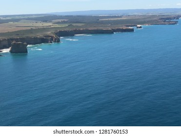 Helicopter view of The Great Ocean Road Australia