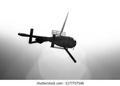 Helicoptero, bomberos, incendio