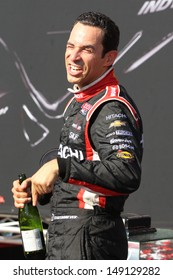 Helio Castroneves at 2013 Honda Indy in Toronto, June 14th, 2013.