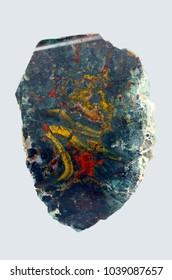 Heliotrope mineral.  bloodstone jasper