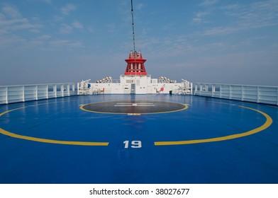 Helipad area on stern of ship