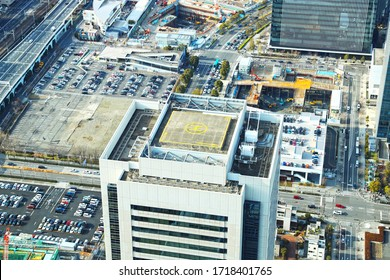 Heliport on the roof of the building