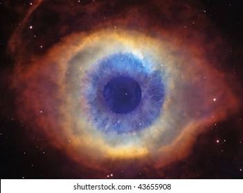 Helix Nebula (God's Eye) with an Eye