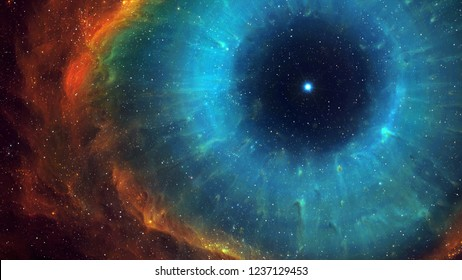 Helix nebula in outer space. God's eye.