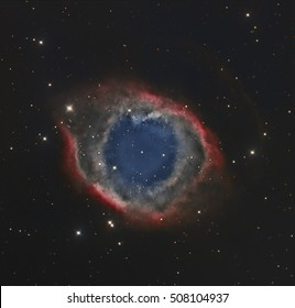 The Helix, A Planetary Nebula in the Constellation Aquarius