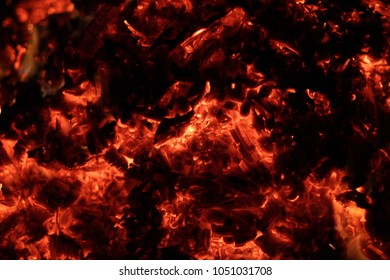 Hell Background Fire Flame On Black Stock Photo Edit Now