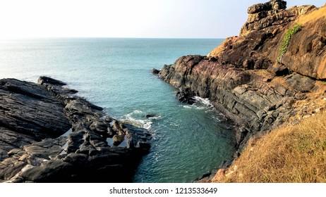 Hell cliff  location: Gokarna, Karnatka, India.