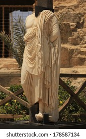 Hellenistic Sculpture at Caesarea Maritima National Park, Holy Land, Israel