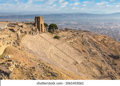 The Hellenistic Theater in Pergamon, Bergama, Turkey in a beautiful summer day