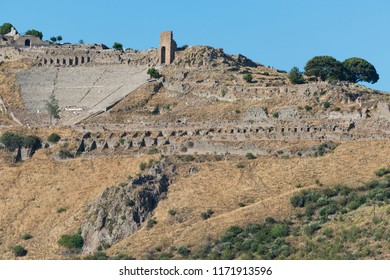 Hellenistic Theater in Pergamon. The steepest ancient theatre in the world