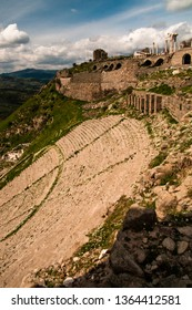 The Hellenistic Theatre below the Acropolis of Pergamon in Turkey