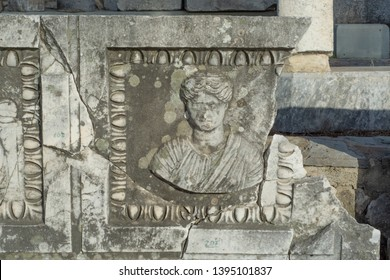 Hellenistic theatre in Miletus animal and human figures  (19)