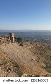 The Hellenistic threatre (2nd century BCE) of Pergamon on top of Kale Hill , has a slope of 33 degrees.