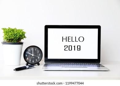 HELLO 2019 Business Concept