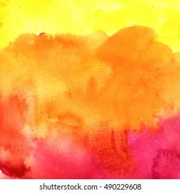 Hello autumn watercolor print