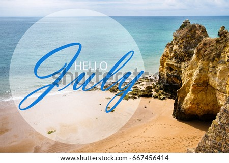 Hello July Wallpaper Summer On Beach