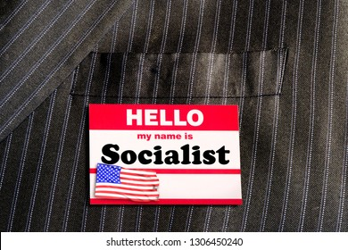 Hello my name is Socialist name tag.