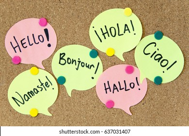 Hello / Speaking learning foreign languages