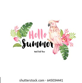 """Hello Summer"" illustration card."