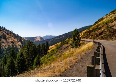 Hell's Canyon Scenic Byway in northeastern Oregon in the Wallowa-Whitman National Forest
