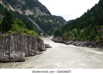 Hells Gate, abrupt narrowing of British Columbia's Fraser River, located downstream of Boston Bar in the southern Fraser Canyon