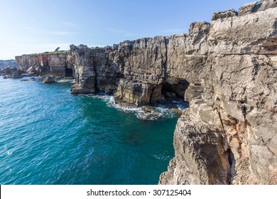 Hell's Mouth is a chasm located in the seaside cliffs close to the Portuguese city of Cascais, in the District of Lisbon
