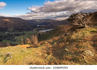 Helm Crag is a fell in the English Lake District situated in the Central Fells to the north of Grasmere. Despite its low height it sits prominently at the end of a ridge, easily seen from the village.