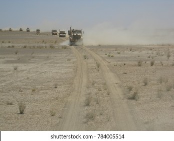 Helmand Province / Afghanistan - June 17, 2009: Military convoy
