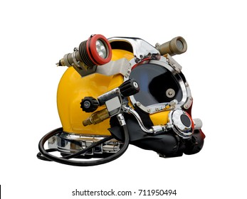 helmet of the diver.Protects the head of the diver.