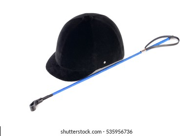 helmet for horse riding isolated on white