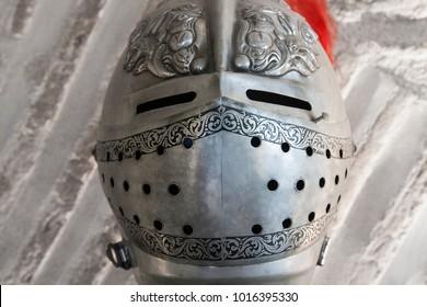 helmet of a medieval armor, spanish style