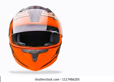 helmet for motorcycle on a white background.Isolated