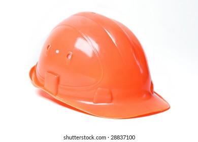 Helmet on the white