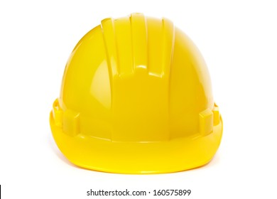 The helmet on a white background. Construction