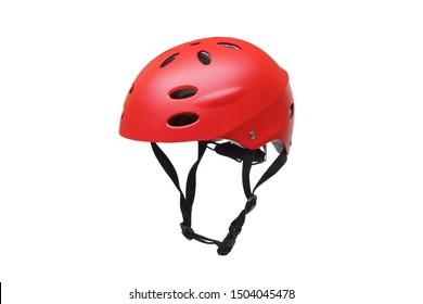 A helmet for riding bicycle or playing skate isolated on white background