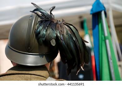 helmet of the soldier