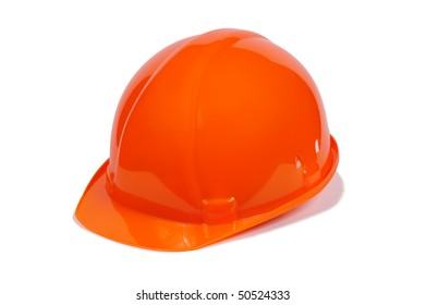 Helmet of the worker isolated on a white background.