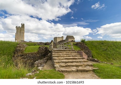 Helmsley Castle also known historically as Hamlake situated in the market town of Helmsley, within the North York Moors National Park, North Yorkshire, England