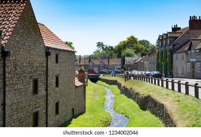 Helmsley, North Yorkshire, UK - June 12th 2018 : Pretty english village of Helmsley in Ryedale