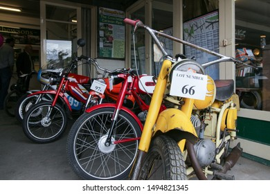 Helmsley, United Kingdom / 26th September 2015: Used Motorbike Old Auction Lot Number Retro Bikes