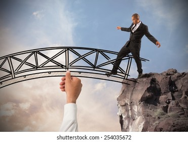 Help a businessman to overcome an obstacle