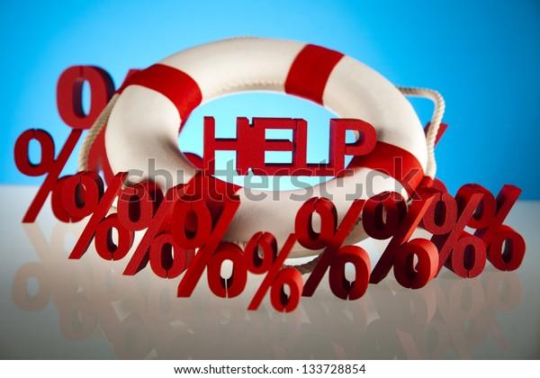 Help, crisis concept
