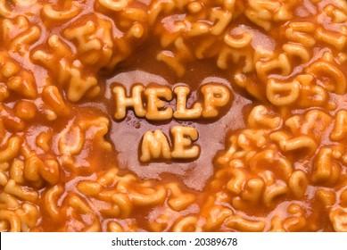 Help Me - Pasta Message