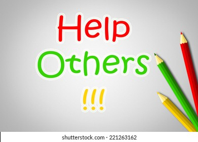 Help Others Concept text on background