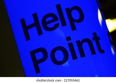 help point station sign