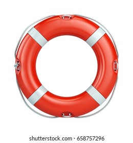 Help, safety, security concept. Lifebelt, life buoy isolated on white background. 3d render